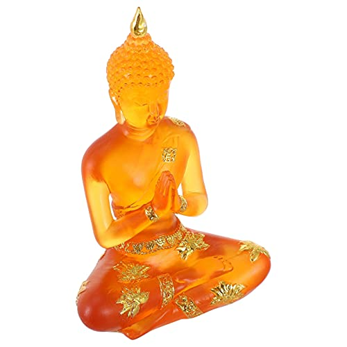 VORCOOL タイリビング仏像樹脂タイ仏家の装飾品瞑想着席仏像プレミアム品質仏アイドル置物