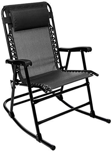 Superb Amazonbasics Foldable Rocking Chair Black Pabps2019 Chair Design Images Pabps2019Com