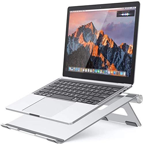 Soporte de Laptop de Aluminio Plegable, Soporte de enfriamiento de computadora portátil Ajustable para computadora portátil, 10-15.8'Portatar portátiles y tabletas con Soporte de Escritorio con