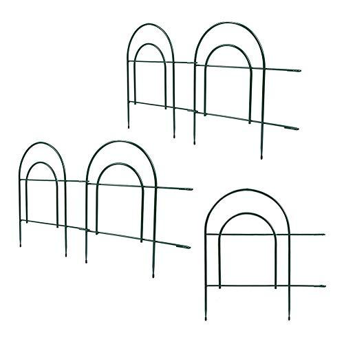Ausla Beetzaun, 5-teilige Beetumrandung für Garten, Dekozaun aus Metall, Gartenzaun, Dekorative Zaun, 44,7 x 47 cm