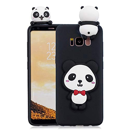 HopMore Handy Hülle für Samsung Galaxy S8 Hülle Silikon Muster 3D Handyhülle für Samsung S8 Ultra Dünn Bumper Design Slim Schutzhülle One Piece Case Cover - Panda