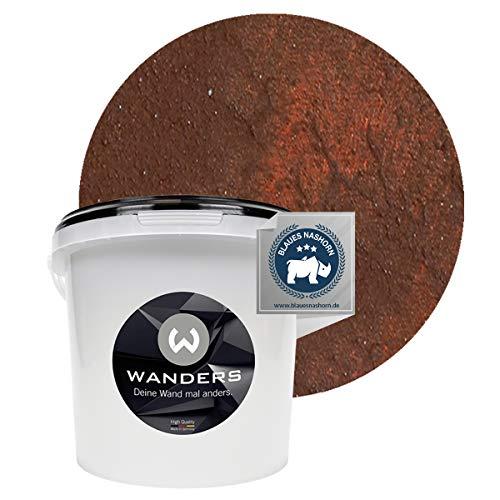 Wanders24 Rost-Optik (3 Liter, Rost) Wandfarbe für Rost-Effekt, individuelle Gestaltung für Zuhause, Farbe Made in Germany