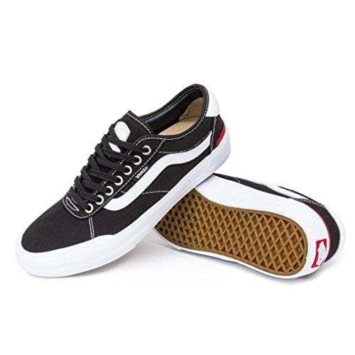 Vans Chima Pro 2 Shoes 46 EU (Canvas) Black/White