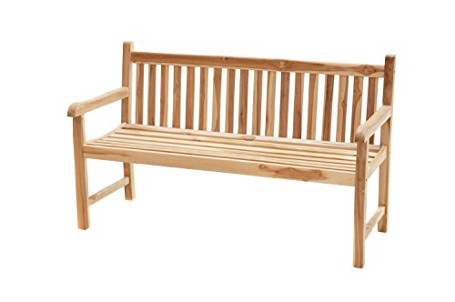 Ploß Outdoor furniture Coventry Landhausbank, Eco Teak Natur, 130 x 64 x 90 cm