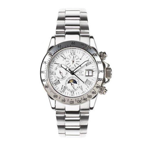 Le Capitaine - Reloj de pulsera para hombre, color plateado