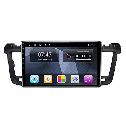 Estéreo para automóvil Android 10.0 Radio compatible Peugeot 508 2011-2018 Navegación GPS Unidad principal de 9 pulgadas Pantalla táctil HD Reproductor multimedia MP5 Video con WiFi DSP SWC Mirrorlin