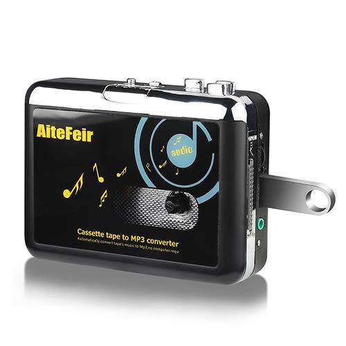 Kassette zu MP3 Konvertierer Ohne PC Kassetten Digitalisieren Konverter Tragbar USB Kassette KassttesSpieler Digital Konverter und Player zu MP3 Player Converter Durch USB Laufwerke