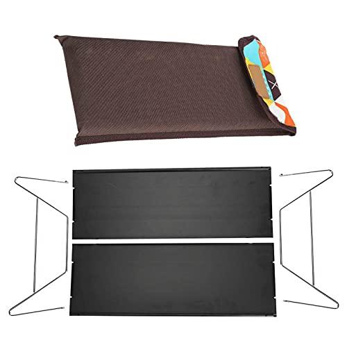 DPYF Mini mesa plegable de aluminio para barbacoa al aire libre Ultra‑Light portátil plegable de aleación de aluminio para picnics