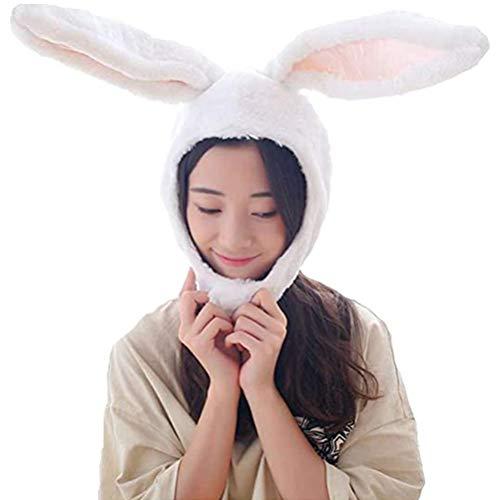 Nargut - Gorro de peluche con orejas de conejo, diseo de conejo, diseo de orejas de conejo