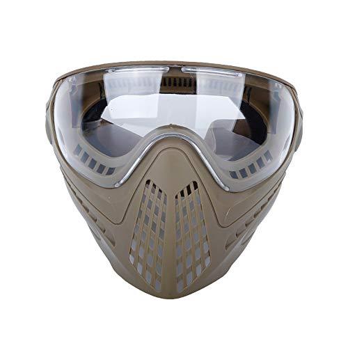 OAREA Full Face Maskers voor Airsoft Tactische Helm met Vervangbare Beschermende Goggles en Helm Connector