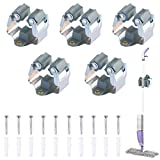 ManLee 5pcs Portascopa da Parete Appendiscopa e Portaspazzole da Muro Rastrelliera Scope e...