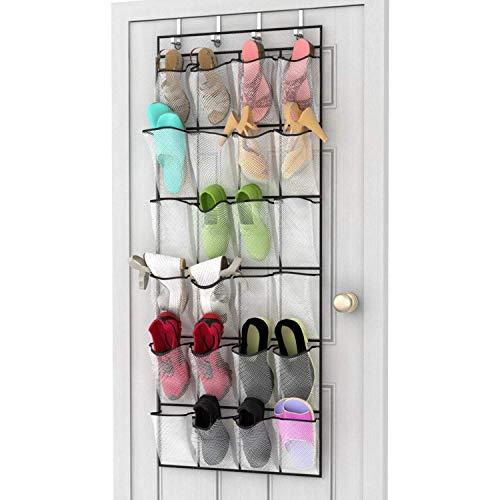 bottes sacs /à main Organiseur de rangement /à suspendre avec 3//5 /étag/ères en coton et lin respectueux de lenvironnement pour chaussures 24,6 x 24,6 x 18,5 cm, tiroir