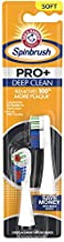 ARM & HAMMER Spinbrush PRO+ Deep Clean REFILLs– Spinbrush Battery Powered Toothbrush Removes 100% More Plaque- Soft Bristles -Two Replacement Heads