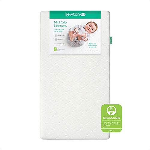 Newton Baby Mini Crib Mattress and Toddler Bed - 100% Breathable Proven to Reduce Suffocation Risk,...