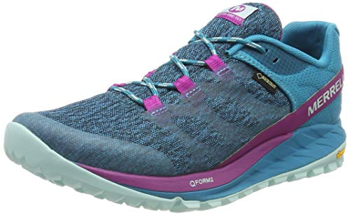 Merrell Antora GTX, Zapatillas de Running para Asfalto para Mujer, Multicolor (Capri Breeze), 37 EU