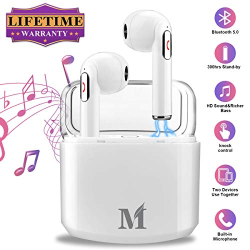 Wireless Earbuds with Charging Case,Bluetooth Earbuds with Mic for...