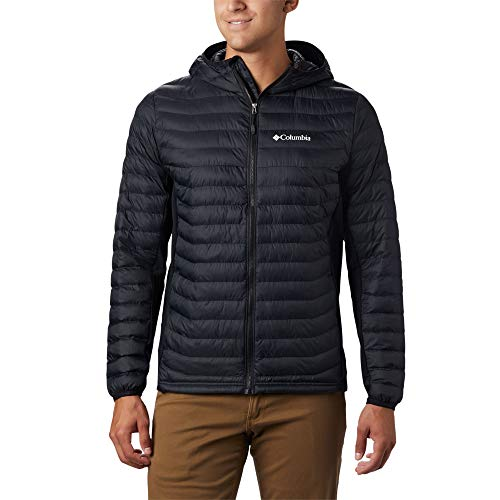 Columbia Herren Powder Pass Kapuzenjacke, Schwarz (Black), L