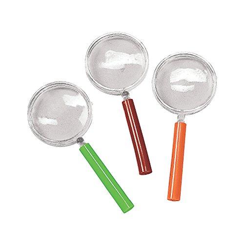 """Lupa Gafas, varios colores (Pack de 12) tamaño 41/4"""", plástico (descontinuado por fabricante)"""