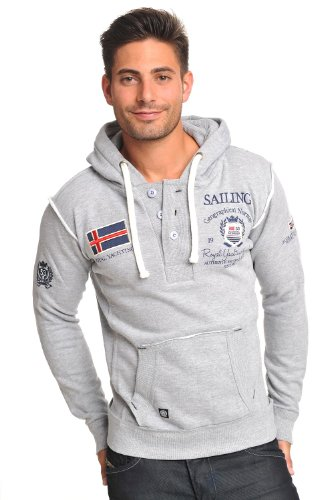 SAILING Norway Royal Yachting zeil pullover hoody sweater grijs maat XS