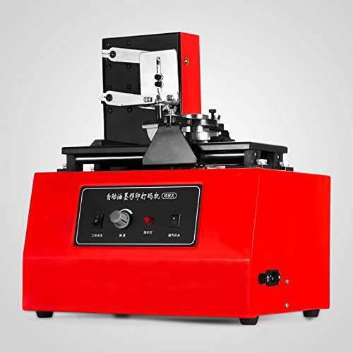 VEVOR Impresora de Cojín 10-60 Veces/min Máquina de Impresora del Cojín de 15 x 30 Milímetros Máquina de Tampografía para Camisetas, Relojes y Encendedores