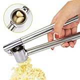 Bacyion Garlic Press Garlic Mincer Garlic Crusher, EwiseeLive Made of Metal Stainless Steel.Easy Squeeze, Rust Proof, Easy Clean