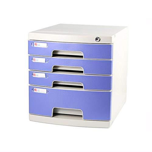 LHQ-HQ Desktop-Fach Sorter 4-Schichten Abschließbare Data Office Speicher-Fach Vertraulichkeit Office Desktop Schublade Organizer Pink (11.8in * 15.8in * 17.2in) (Größe: 4-Schichten) Zeitungsständer