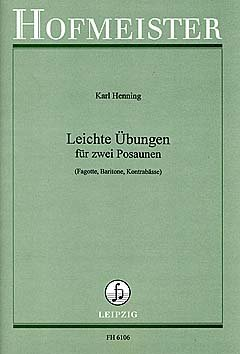 LEICHTE UEBUNGEN - arrangiert für zwei Posaunen [Noten/Sheetmusic] Komponist : HENNING KARL