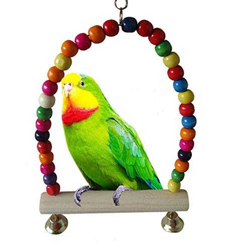 KAN-X Best Design Colorful Bird Toy Parrot Swing Cage Parakeet Cockatiel Budgie Lovebird, Cages for Parakeets - Colorful Bird, Bird Cage, Toys for Parrot, Small Swings for Parakeets, Parrot Toys
