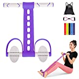 MUSBOY Rowing Tube, Training Tube, Abdominal Muscle Exercise, Abdominal footrest Extender Exercise Spine, Rowing Exercise Training Waist, Fitness Sporting Goods, Home Gym, Neutral Purple