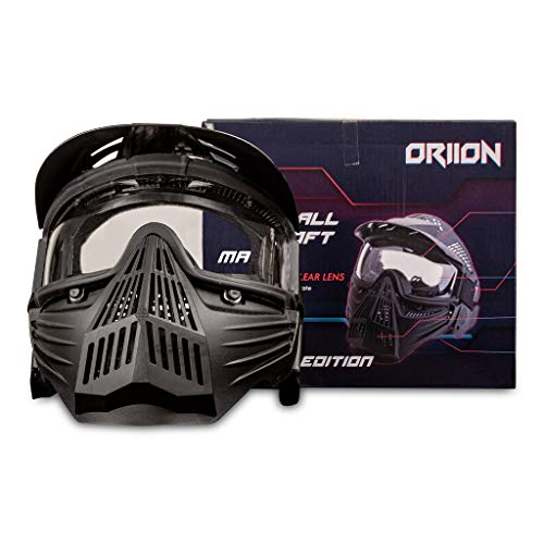 Oriion Thermal Paintball Mask | Anti Fog Paintball Mask with Full Cover | Airsoft Mask Full Face | Impact Resistant with Full Visibility | Perfect Vision & Essential Protective Gear for Your Face