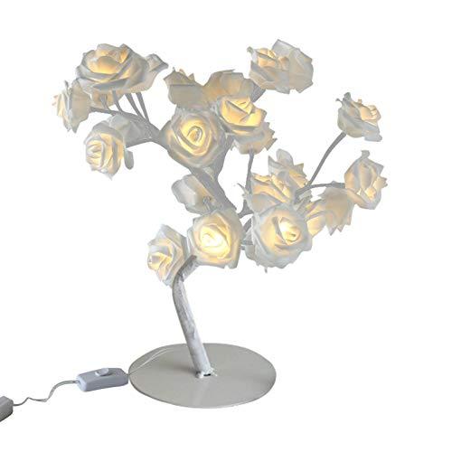 CMOM LED Tabletop Bonsai Tree Lights, Artificial Rose Tabletop Lamp Blossom Tree with Fairy Lights Spirit Tree Christmas Lamp Bedroom Decor for Teen Girls Women