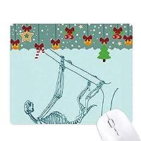 ナマケモノ動物骨格のスケッチ ゲーム用スライドゴムのマウスパッドクリスマス