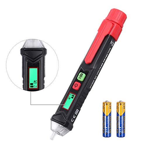 Neoteck Voltmetro Non-Contatto Tester Voltaggio Senza Contatto Doppia Sensibilità Regolabile Penna Rilevatore Tensione Non-Contatto 12-1000V/48-1000V con Display LCD e Torcia