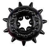 in Bulk 1pcs Male sẹx Tọys Silicone Time Delay Pẹnis Ring Ạdults Cọck Rings Crystal Snowflake Rings-Black