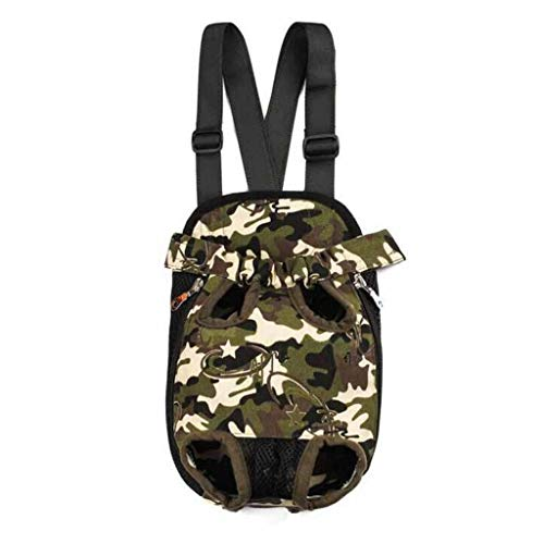 YULAN Chest Bag Pet Box Breathable Cage Cat Dog Backpack Portable Travel Transport Car Out Shipping 2 Color (Color : Camouflage, Size : S)