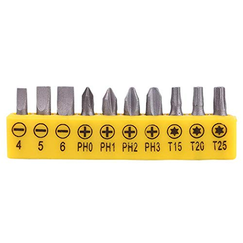L-Shape 1/4 Inch Hex Socket Wrench Double Head with 10Pcs Various Angled Screwdriver Bits Hand Tool Set