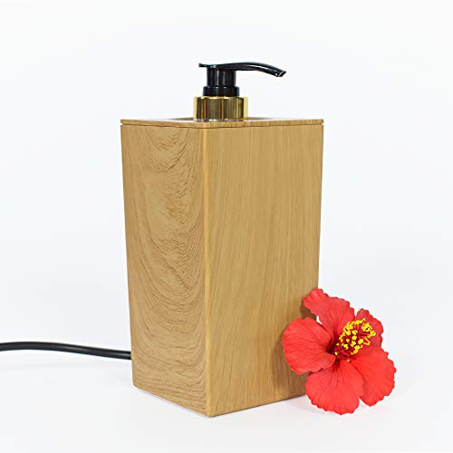 Pacific Spirit PRO MASSAGE – Massageölwärmer Milo, helle Naturholz-Optik I Elektrischer Massageöl-Erwärmer mit Pump-Flasche I Hochwertiges Massage Zubehör zum Massageöl erwärmen …