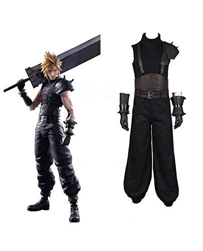 Cloud Strife Costume Cosplay Game Final Fantasy VII Remake Vest Uniform Outfit