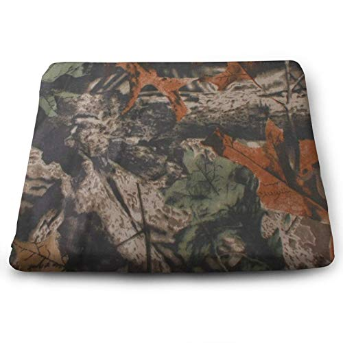 Camouflage Forest Vintage Chair Seat Cushions Pads Memory Foam Office Dining Kitchen Soft Chair Cushion 1Piece for Pressure Relief, Wheelchairs, Patio, Cafe, Garden, Indoor, Non Slip