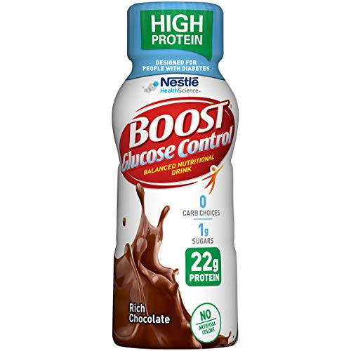 BOOST Glucose Control High Protein Nutritional Drink, Rich Chocolate, 8 Ounce Bottle (Pack of 16)