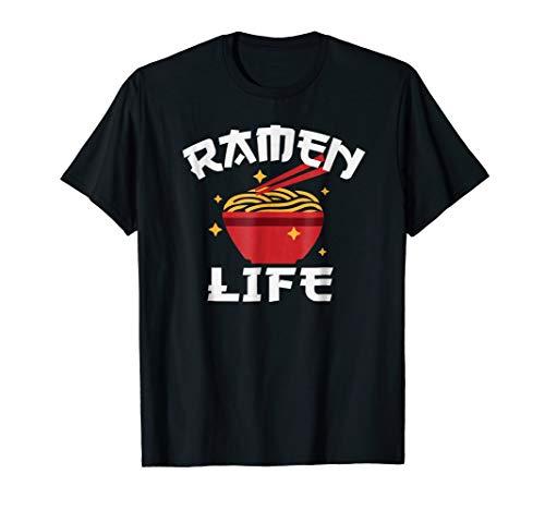 Ramen Noodle T Shirt Anime Shirt Ramen Life Tshirt