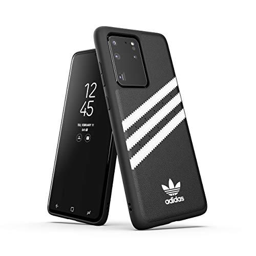 adidas Originals Designed für Samsung Galaxy S20 Ultra Hülle DREI Streifen Schutzhülle - Schwarz und Weiß