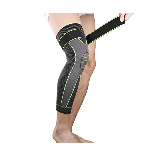 Bufccy Full Leg Compression Sleeve with Compression Strap for Women Men Long Leg...