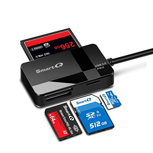 SmartQ C368 USB 3.0 Multi-Card Reader, Plug N Play, Apple and Windows Compatible, Powered by USB, Supports CF/SD/SDHC/SCXC/MMC/MMC Micro, etc.