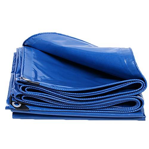 LILIS Fundas Muebles Jardin Impermeable PVC Tarpa Impermeable Tarpa Tarpón Tarjeta de Lona de Servicio Resistente Reforzado, Azul, Tallas múltiples, 350 g/m² (Color : Blue, Size : 1.5X2m)