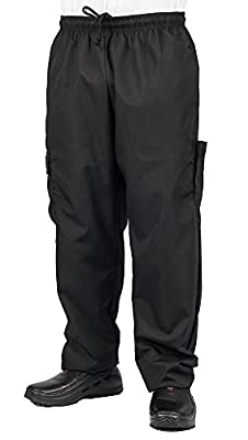 KNG Black Cargo Style Chef Pant