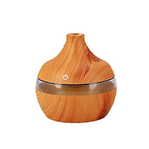 QIHANGCHEPIN USB 300 ml Car Aroma Humidificador Purificador De Madera De Grano Ultrasonido 7 Color LED Aire Aceite Esencial Difusor Con