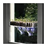 Window Garden Double Veg Ledge Shelf Seed Starting Kit Bundle - Grow Seedlings on an Indoor Window and Plant Soil Pods in The Garden or Planters Pots. for Planting Vegetables, Herbs and Flower Seeds
