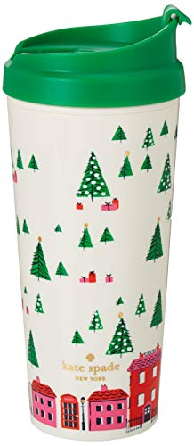 Kate Spade New York 16 Ounce Holiday Insulated Thermal Travel Mug, Holiday Village