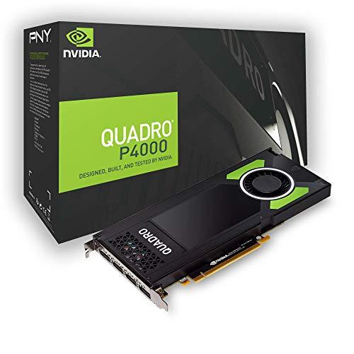PNY NVIDIA Quadro P4000 - Scheda grafica professionale PCI Express GDDR5, 4 x DP 8 GB, colore: Nero